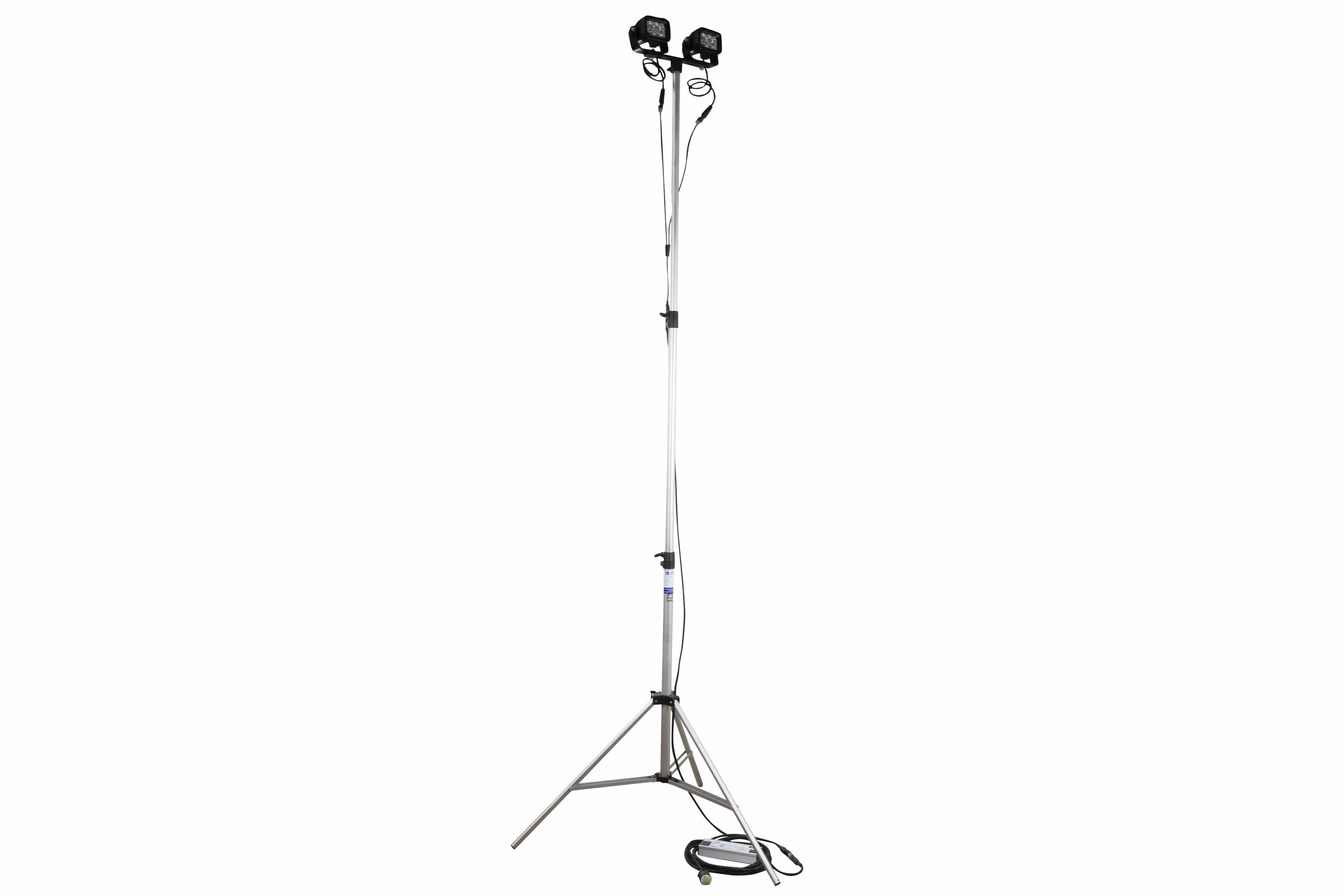 24w Portable Led Telescoping Light Tower