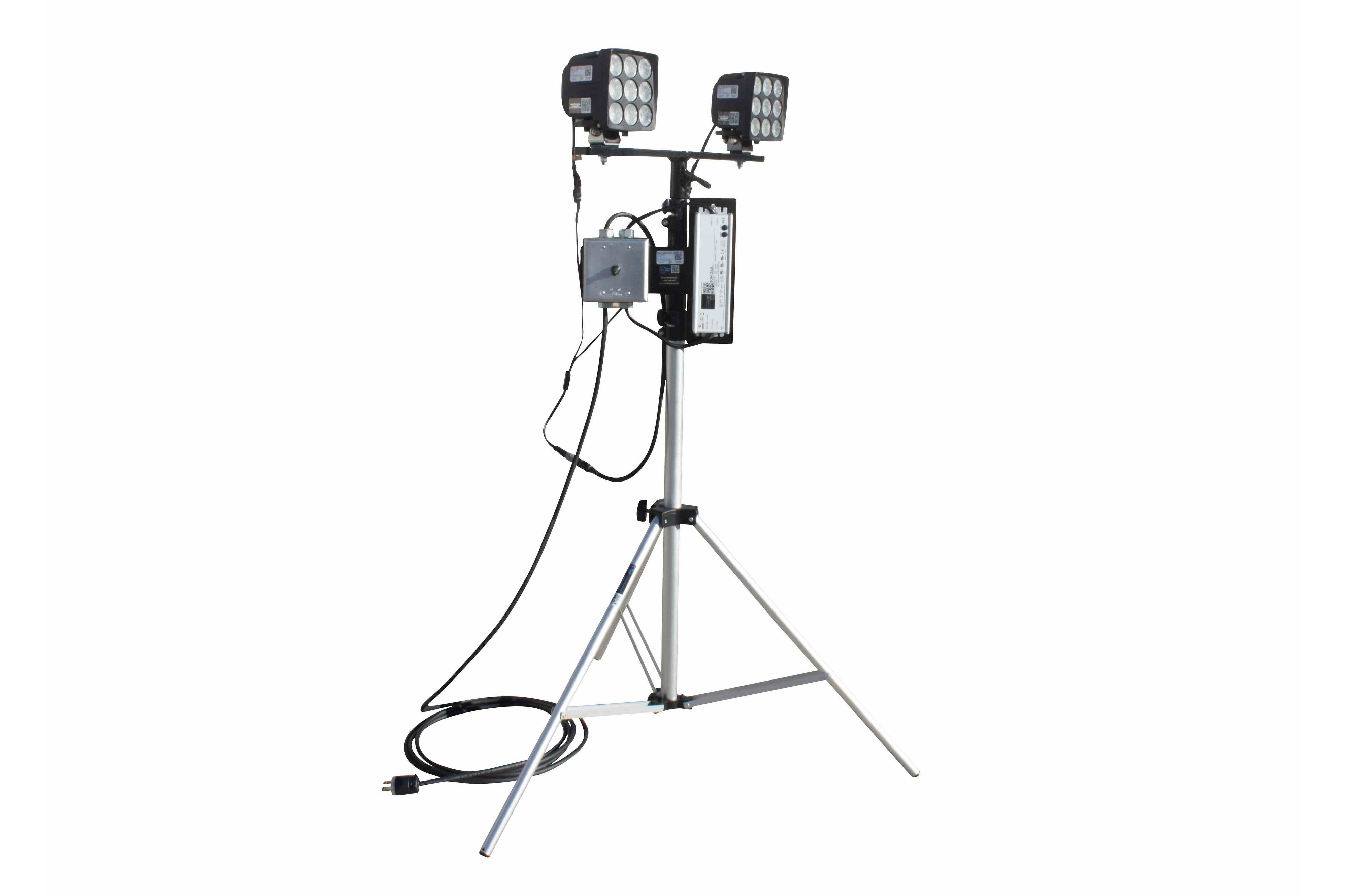 180 Watt Dual Led Light On Telescoping Tripod