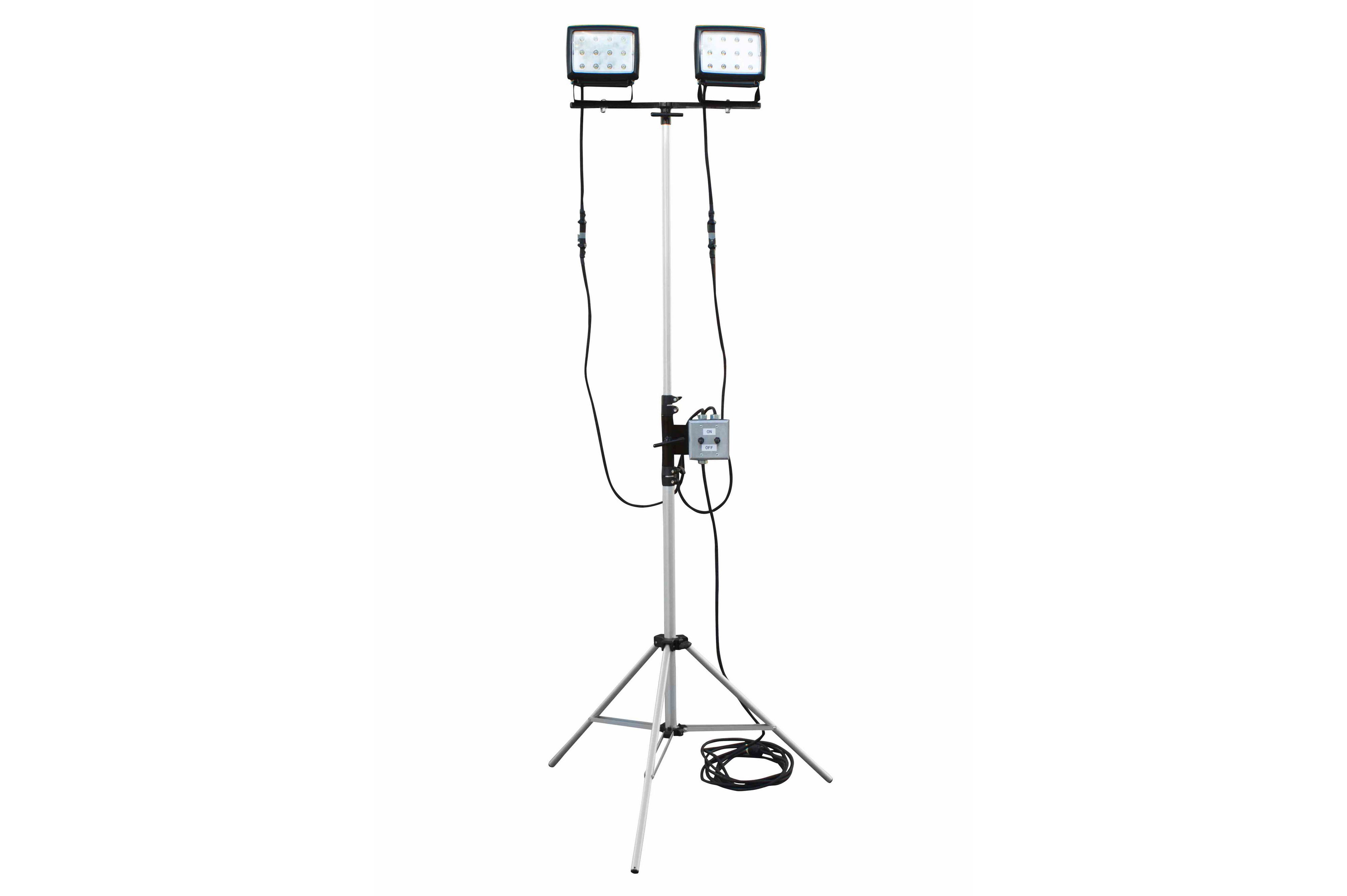 2 40 Watt Led Flood Lights On Telescoping Tripod