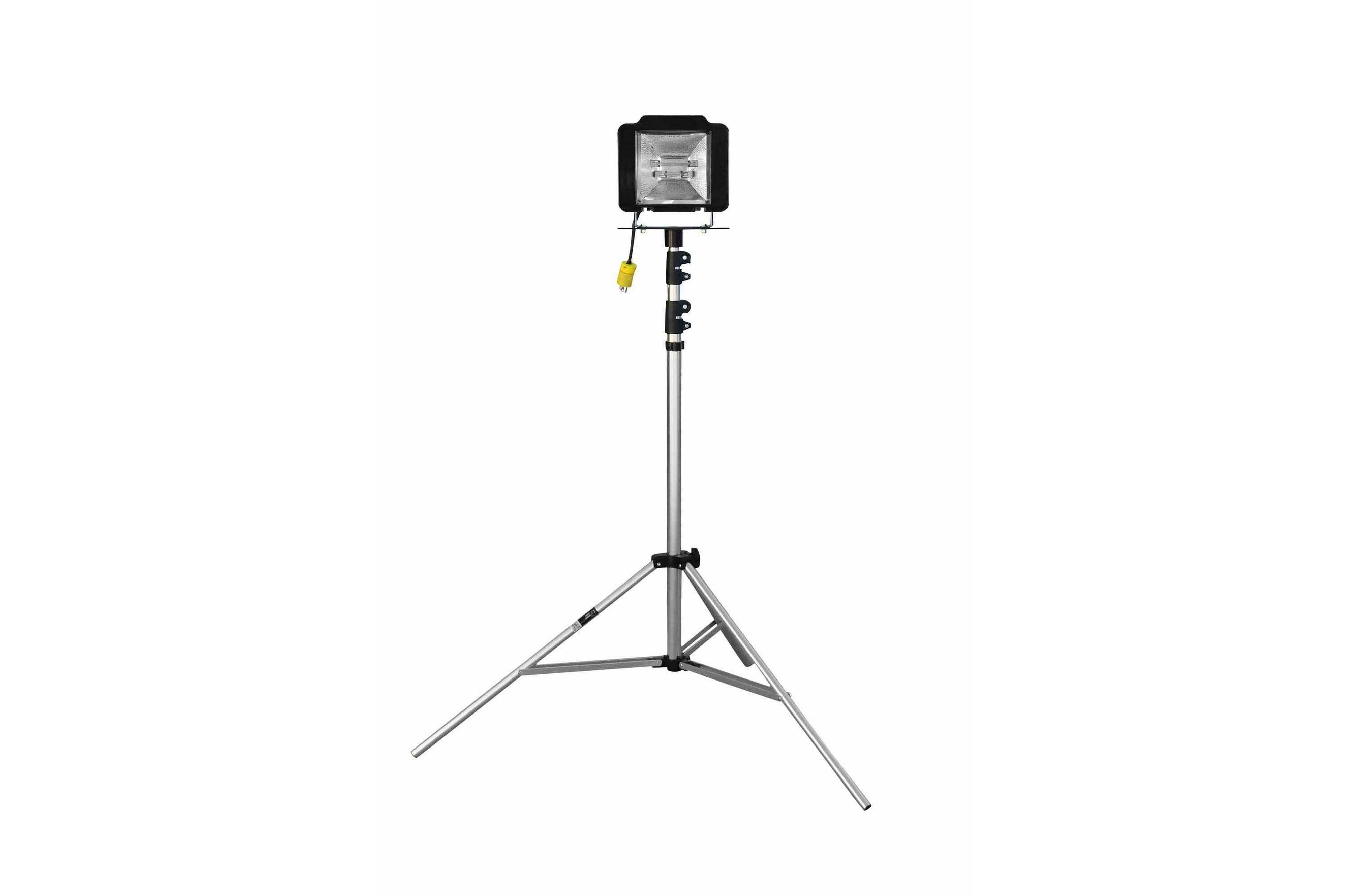 500 Watt Quartz Flood Light On Telescoping Tripod
