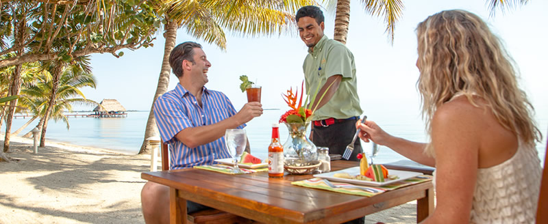 Enjoy Drinks during your Belize Beach and Jungle Vacation
