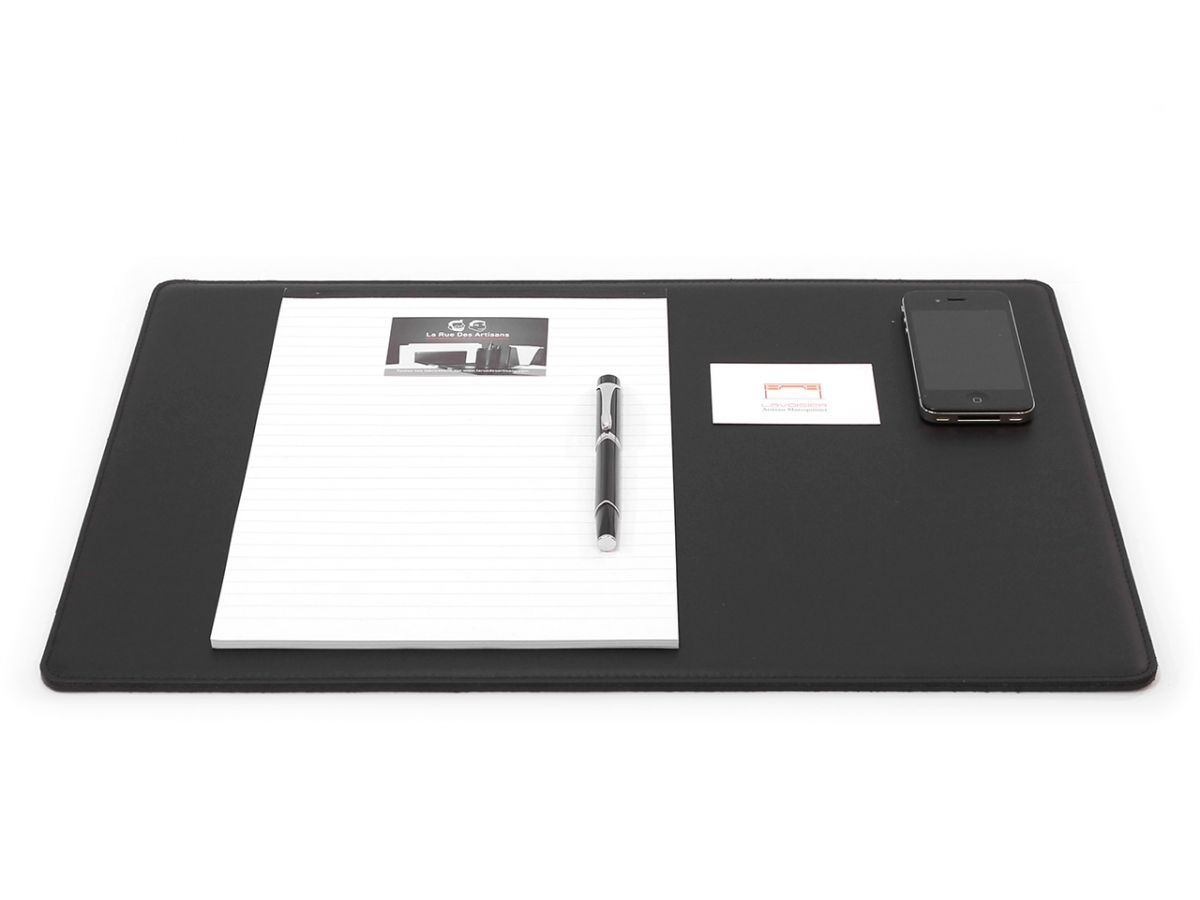 sous main cossu standard en cuir noir 50x34 cm sous main cossu standard en cuir noir 50x34 cm