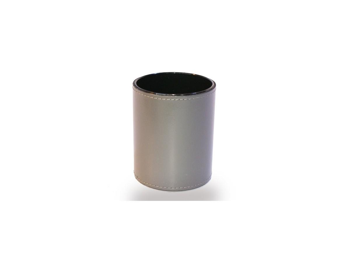 Pot Crayons En Cuir Rouge Accessoire De Bureau