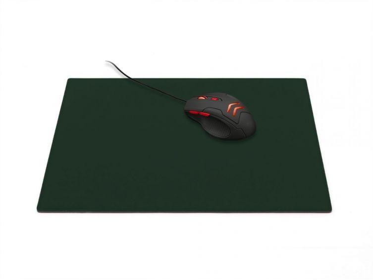 grand tapis de souris en cuir vert anglais xl 38x32 cm