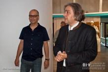 Wolfgang Koch bedankt sich bei Michael Fuchs für die Führung durch den Narrenschopf