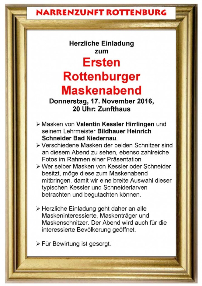 Erster Rottenburger Maskenabend