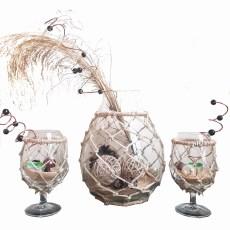 Balık ağı dekoratif vazo