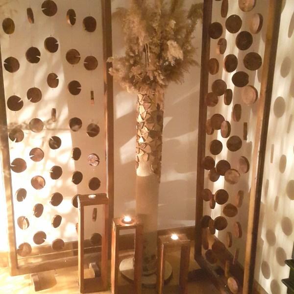 dekoratif ayaklı vazo