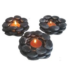 dekoratif taş mumluk