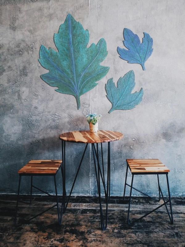 yeşil yaprak duvar aksesuarı