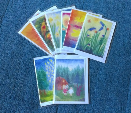 Cards with envelope in a cellophane pouch