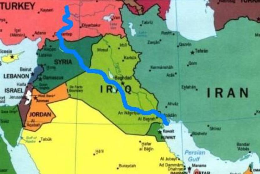 Mapa de Irak y Siria