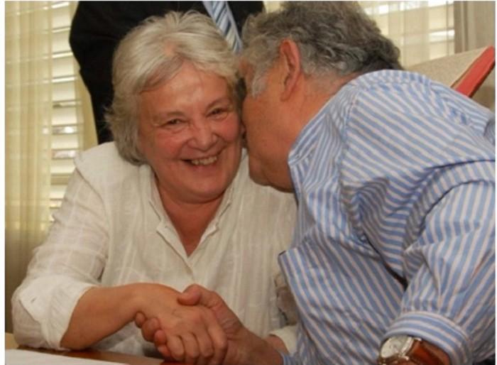 La mujer de Mujica, tan grande como él