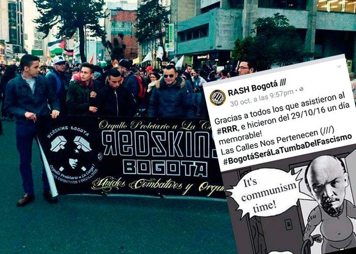 A bate, puños y cuchillo, izquierdistas radicales acorralaron la marcha del NO