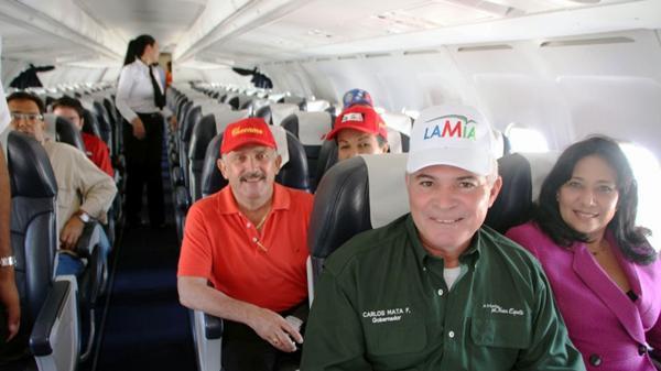 El gobernador del estado de Nueva Esparta Carlos Mata Figueroa, se declaró orgulloso de que Lamia fuera de la isla de Margarita