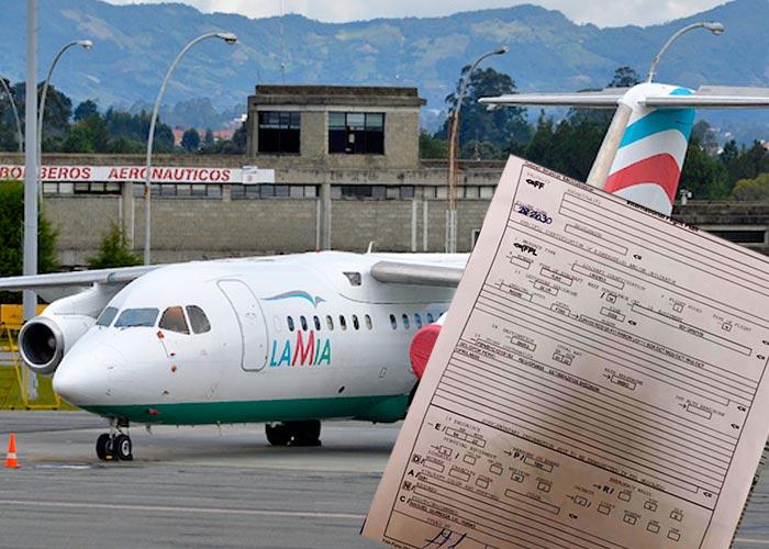 FOTO: Este es el plan de vuelo del avión de LaMía que traía al Chapecoense. 5 inconsistencias