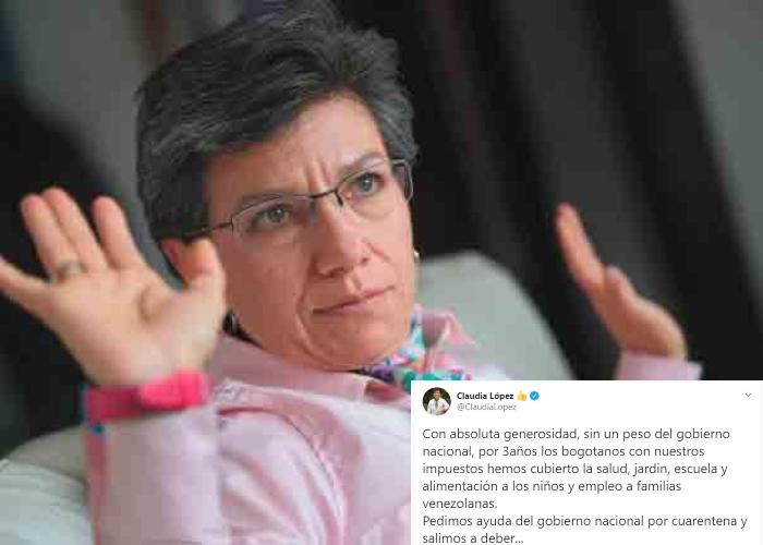 El abucheo en redes a Claudia López por sus declaraciones sobre ...
