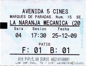La Naranja Mec nica 2009 Spain Sevilla Avenida 5 Cines - 921