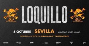 Cartel oficial del concierto de Loquillo en Sevilla.