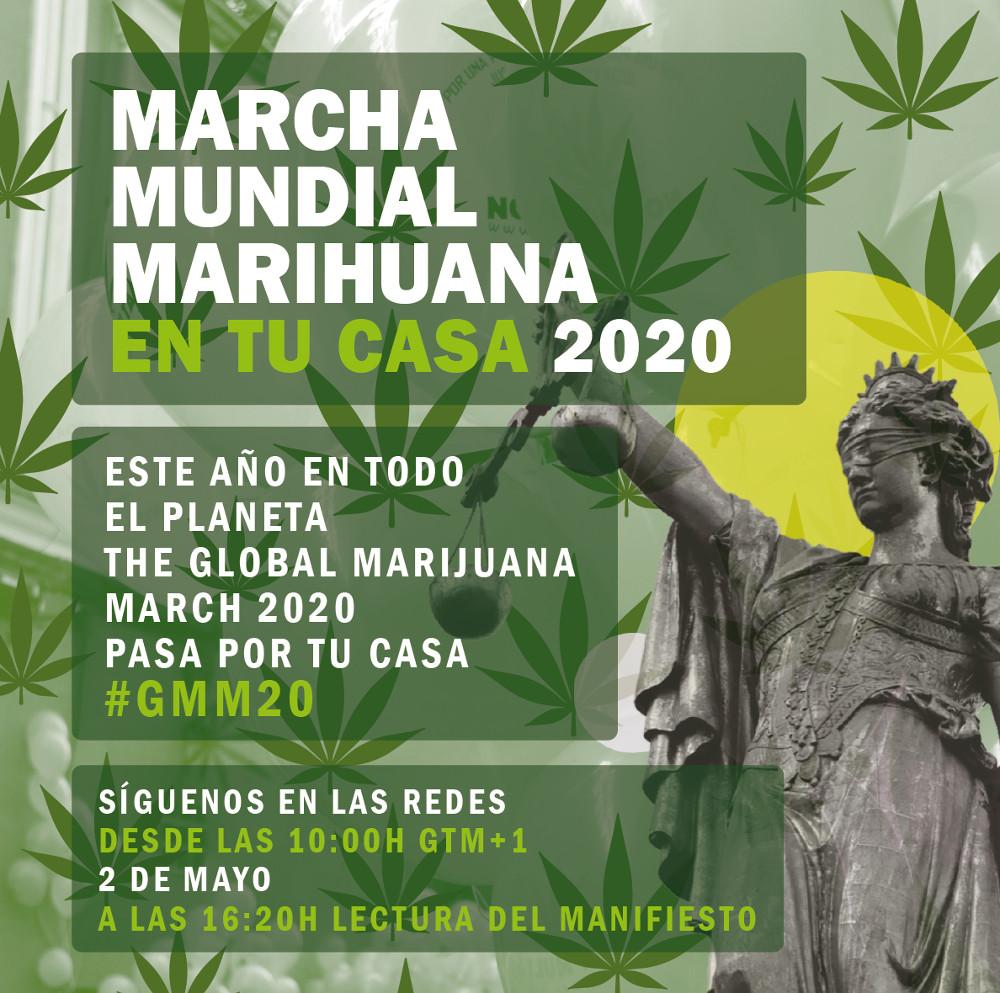 Marcha Mundial de la Marihuana #GMM20 Pasa por tu casa