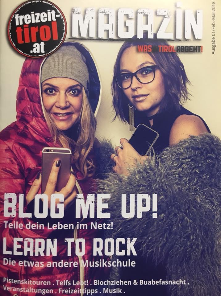 """Referenzen für Sara Erb Cover """"Freizeit Tirol"""" magazine Sara Erb blog me up Covergirl La Sara Leona aus innsbruck"""