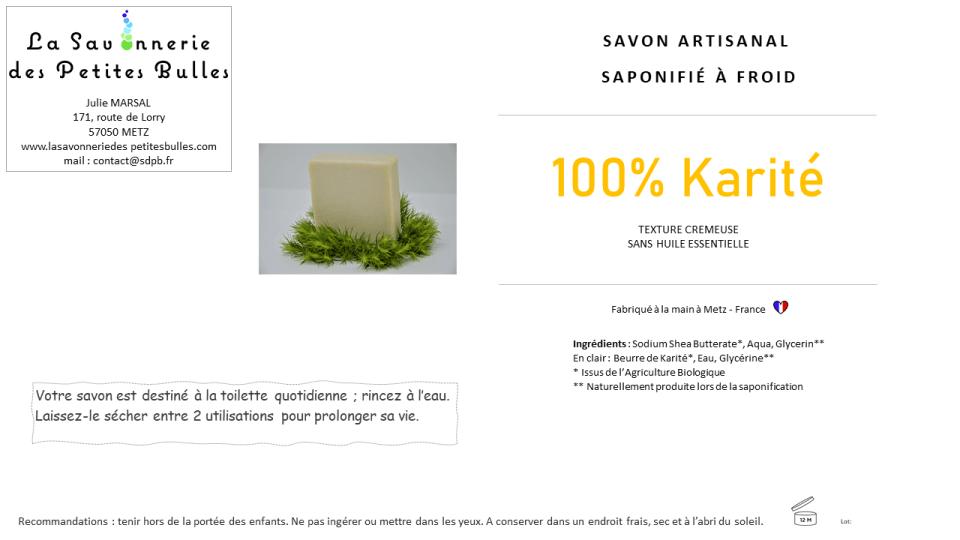 Etiquette savon Karite