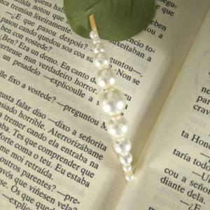 Horquilla perlas oro las caprichosas