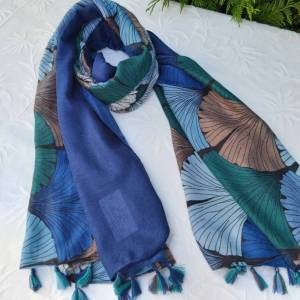 fular azul abanicos las caprichosas