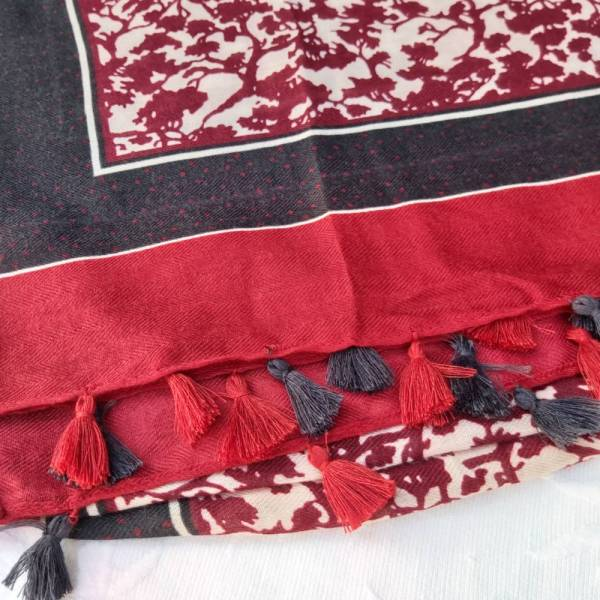 fular granate detalle las caprichosas
