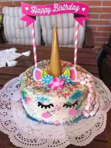 Mi morena tarta de unicornio sin gluten