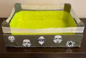 Mi morena reciclar cajas de la fruta Star Wars