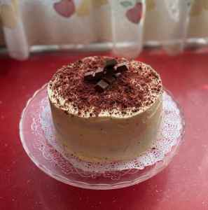 Mi morena Purple Velvet Cake acabada