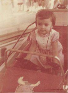 Mi morena recuerdos de niñez en los coches de choque