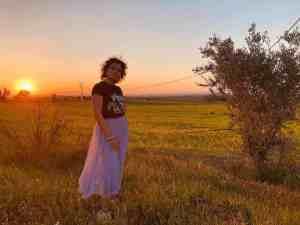 Mi morena A nosotros todo nos pasa en primavera puesta de sol primaveral