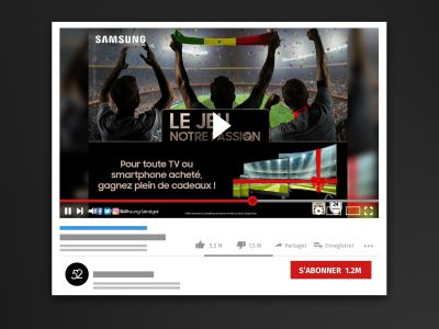 Campagne Adwords Youtube CAN 2019 - Samsung