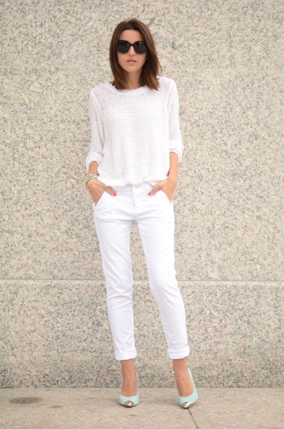 2 total white look La Selectiva Outfits sencillos