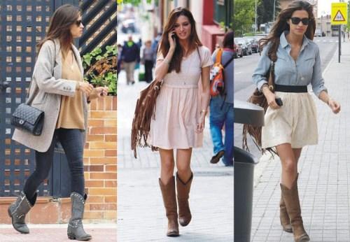 Sara Carbonero cowboy boots