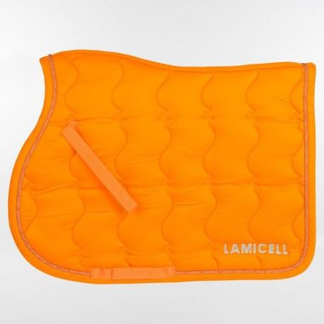 tapis de selle dressage lamicell new crystal orange