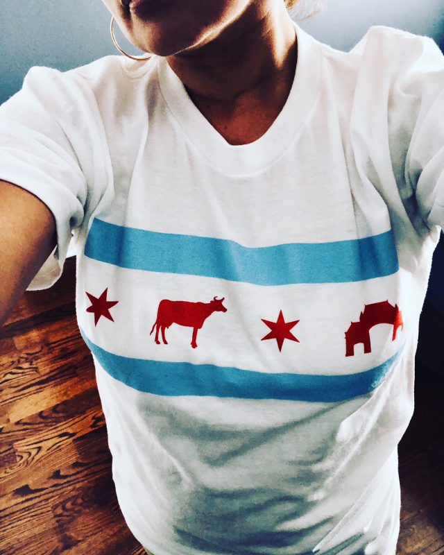 Back Of The Yards Chicago Flag Tee La Selva Shop