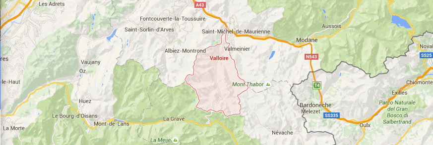 map Valloire