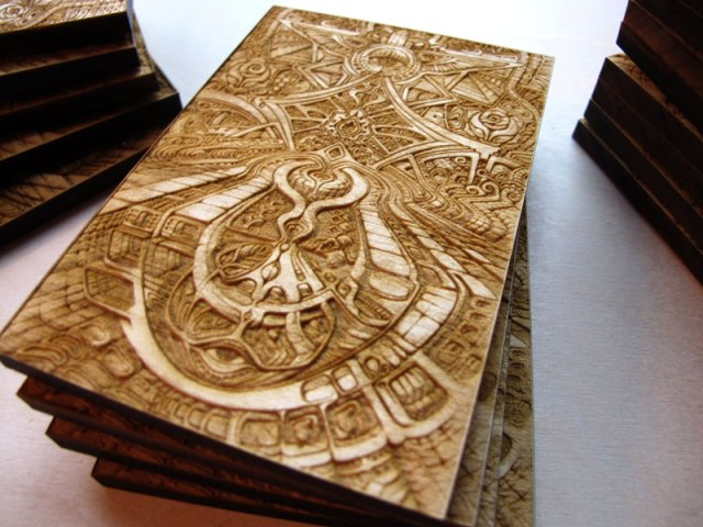Laser Creative - Laser cut and engraved wood art print by Laura Isis ...