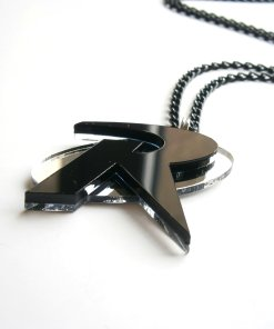 Black Robin Necklace
