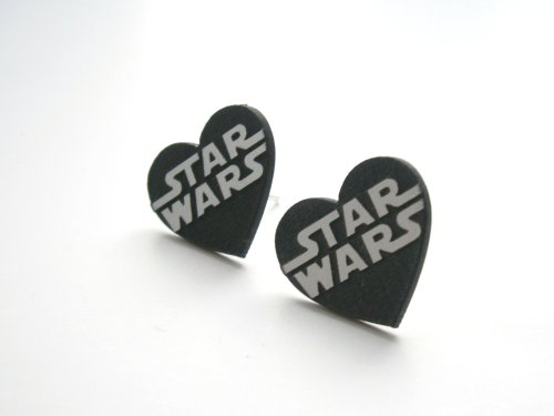 Star Wars stud earrings  Laser cut and engraved