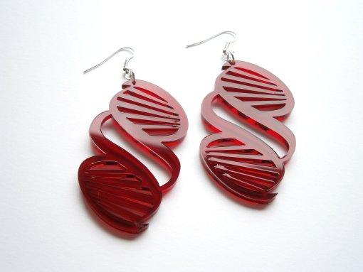 science red DNA Earrings