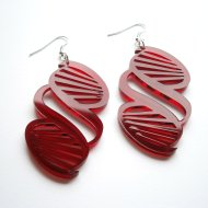 science red DNA Earrings