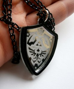 Legend of Zelda Necklace - Ocarina of Time Hylian Shield Cosplay Prop