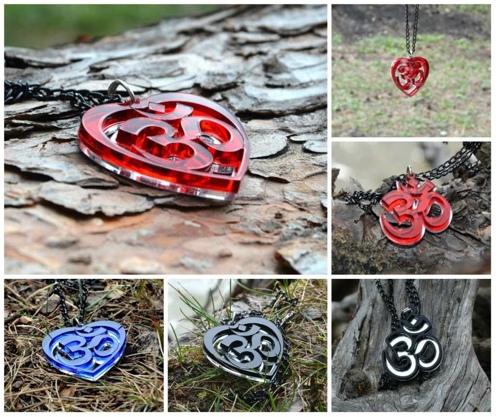 Religious Jewelry OM AUM necklaces cufflinks