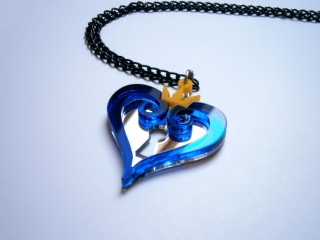 Kingdom Hearts Blue necklace and Black Chain