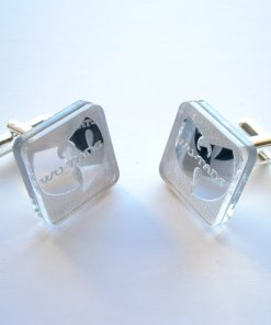 wu tang cuff links mirror acrylic music jewelry