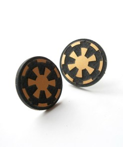 Star Wars stud earrings  Laser cut and engraved